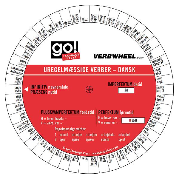 ... Irregular Verbs Dänische Unregelmäßige Verben Verb Verbwheel Wheel