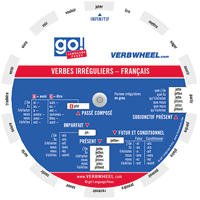 Verbes irréguliers - Français French Irregular Verbs Verb Wheel Verbwheel Pocket Wheel