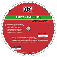 Preposizioni Italiane Itanlienische Präpositionen Italian Prepositions Verbwheel Wheel